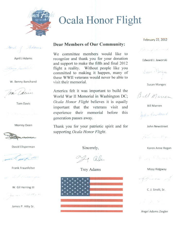OcalaHonorFlight-Letter-FoundationServices